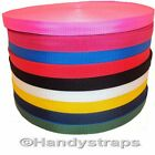 "100 meter x 25mm colour Polypropylene 1"" Webbing"