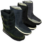 New Mens Shearling Snow Quilted Thermal Warm Winter Boot Moon Jogger Rain Boots