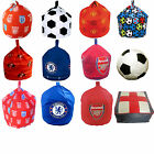 Football Team England Footstool Cube Slab Blue Red Beanbag Bean Bag with Filling