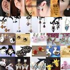 Collection Lovely Retro Butterfly Owl Panda Animal Pendant Lady Earring 35 Style
