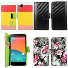 LG Google Nexus 5 PU Leather Wallet Card Flip Open Case Cover Pouch Protector