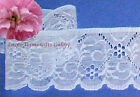 7 Yds White Lace Trim Woven Eyelet 2-5/8 Vine O64V Buy More-Ship No Charge