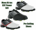 Hi-Tec CDT Power 501 Golf Waterproof Mens Leather Shoes Trainers UK7-12