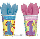 32 1st First Birthday Party Disposable Paper Cups Hugs & Stitches Girl or Boy