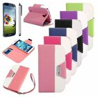 For Samsung Galaxy  S4 i9500 Magnetic Leather Flip Wallet Credit Card Case Cover