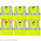 6 x Pack Kids Hi Viz Safety Vest Waistcoat Vis Visability Childrens School Trips