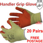 20 x Pairs Latex Rubber Quality Builders Work Safety Handlers Grip Gloves Garden