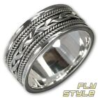 925 SILVER TRIBAL BAND RING celtic medieval antique gothic biker nordic emo wgt