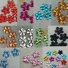 5000 Acrylic 10mm Flower Rhinestone Craft Scrapbooking Pick 11 Color