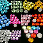 500 Acrylic Round 12mm Global Facet Flat Back Rhinestone Pick 10 Color