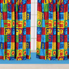 Fireman Sam Duty Boys Kids Childrens Blue Red Yellow Bedroom Ready Made Curtains