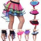 ROCK n' ROLL 1980s 80s Rainbow Neon Party Ruffle Tutu Skirt Clubwear Fancy Dress