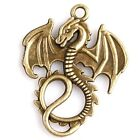 15/75pcs New Wholesale Charms Vintage Bronze Dragon Alloy Pendant Fit Making DIY