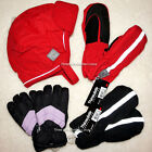 Childrens Kid Winter Snow Thinsulate Mittens OR Hat Toddler Boy Girl 2T 3T 4T