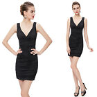 Ever Pretty Sexy V-neck Mini Bodycon Club Cocktail Party Dress 03395 UK Sz 6-18