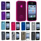 Ultra Thin Pink Purple Grey Clear Frost Color TPU Soft Case For iPhone 4 4S 4GS