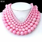 40cm/16inch Deep Pink Dyed Natural Agate Wholesale Beads String