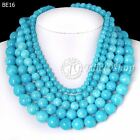 40cm/16inch Turkey Blue Dyed Natural Agate Wholesale Beads String