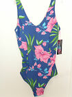 New Ladies Blue Pink Floral Print Magic Swimsuit Bather Size 14D 18D 22B/C