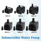 600/1000/1500/3500LPH Submersible Aquarium Fountain Pond Water Pump Fish Tank