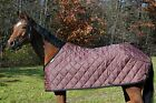 Saratoga Horseworks Quilted Blanket liner, Brown/Black  Sz 74