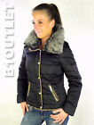 URBAN SURFACE Damen Winterjacke S M L XL Schwarz Daunen Winter Jacke by Sublevel