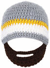 Winter Style Kid Beanie Caps with Beard Hat Child Sized Crocheted Beard Hat