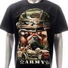 g18 Rock Chang T-shirt Tattoo Skull Glow in Dark Pug Army Puppy Soildier Uniform