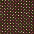 BROWN AND MULTI COLOUR DOTS SPOTS 100% COTTON FABRIC patchwork FASHION