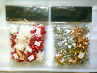 22 x Christmas Birthday Gift Bows Wrapping Present Red & White Or Silver & Gold