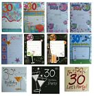 30th BIRTHDAY (Age 30) Party INVITATIONS & Envelopes - Large Range of Designs