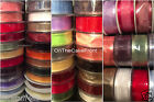 Satin edge organza ribbon 15mm,25mm,40mm wide, 3m & 5 metre lengths Many Colours