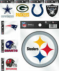 NFL Small Static Cling Decal Window Sticker - Pick Team $2.99 USD on eBay