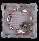 Expressively Your Daughter Charm Bracelet In Gift Box By DM Merchandising 210911