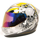 1STORM BRAND NEW DOT MOTORCYCLE STREET BIKE FULL FACE HELMET BOOSTER SKULL