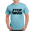 Mens Funny Stop Wars T-shirt On Gildan Ultra Cotton tShirt-6 Colours-1
