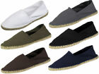 Mens Canvas Espadrilles/ Plimsoll Pumps White, Khaki, Black & Coal