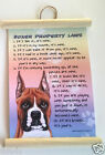 BOXER (CROPPED) PROPERTY LAWS WALL HANGING DOG NOVELTY  30