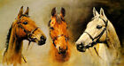 WE THREE KINGS RACE HORSES ARKLE RED RUM DESERT ORCHID BY SUSAN CRAWFORD REPRO