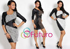 ♥ Exclusive High Quality Dress Eco Leather ♥ Decorative Stone Party Style FC17