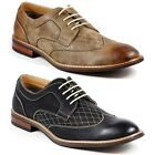 Ferro Aldo Mens Lace Up Wing Tip Dress Classic Shoes w/ Leather Lining M-19266