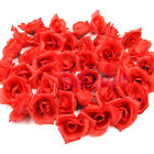 Artificial Silk Red Roses Flower Head Wedding Home Decor Gift 10/20/50pcs