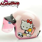 Motorcycle 3/4 Helmet RETRO Hello Kitty Candy Pink Sanrio