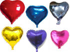 18in  Colorful Heart-shaped Foil Balloons Birthday Wedding Party Decoration