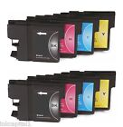 8 x Inkjet Cartridges ( 2 Sets ) Compatible With Brother LC123 - B,C,M & Y