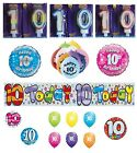 10th Birthday AGE 10 - Large Range of Party BADGES - Small/Large/Giant/Shaped