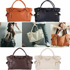 NEW Womens OL Fashion PU Leather Big Capacity Tote Handbag Tote Shoulder Bags