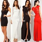 Sexy Elegant Women Slim Long Maxi Full lace Gown Evening Cocktail Party Dresses