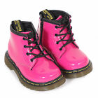 Dr Martens Infant's Leather Lace Up / Zip Boot Hot Pink Patent