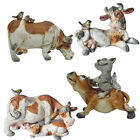 NEW HAND MADE POLYRESIN COW FIGURINE STATUE ORNAMENT GIFT SET ESTEE COLLECTION